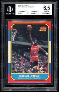 1986 Fleer Michael Jordan #57 Rookie RC BGS 6.5 EX-MT+ w/ 9 CENTERING