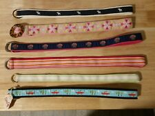LOT 6 Womens Small/Medium D-ring Cloth Belts LL Bean Brooks Brothers Abercrombie