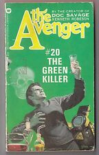 The Avenger #20 The Green Killer - Kenneth Robeson Warner 75394 1974 Paul Ernst
