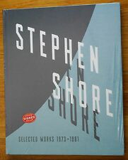 SIGNED - STEPHEN SHORE - SELECTED WORKS 1973-1981 - 2017 1ST EDITION & PRINTING