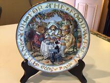 "Royal Doulton Thankful Teddies Thanksgiving Plate Ltd. Ed. Franklin Mint 8-1/4"""