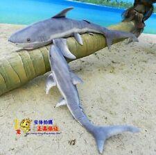 Shock! 55'' Giant Blue Shark Plush Kids' Toy Big Stuffed Animals Xmas gift 140CM