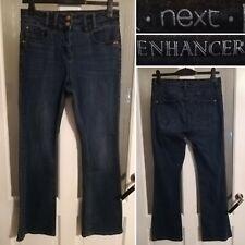 Next High Waist Bootcut Enhancer Jeans 14 W31 L30 Blue Lift Shape Stretch Ladies