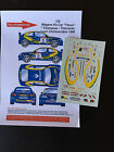 DECALS 1/43 RENAULT MEGANE MAXI KIT CAR CHAMPEAU RALLYE CHARBONNIERES 1998 RALLY