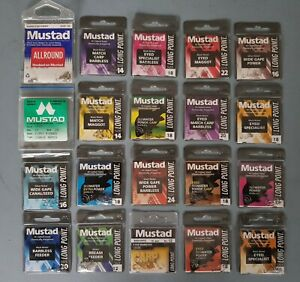 Mustad Match Fishing Hooks for Float Feeder or Pole All Patterns & Sizes +FREE