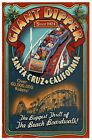 Giant Dipper Roller Coaster Santa Cruz California, Sign, Ad CA - Modern Postcard