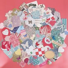 30x Mixed Patterned Paper Shapes Toppers Scrapbooking Cardmaking Craft Clearout
