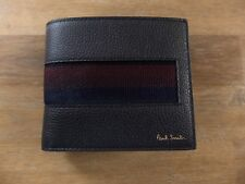 PAUL SMITH London black leather bifold wallet authentic - New in Box