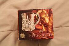 "CRISTAL D'ARQUES MASQUERADE CLEAR CUT COFFEE MUGS 4"" Lead Crystal Cups"