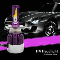 2x C6 LED Kit de faros de coche COB H4 36W 6000K bombillas de luz Lejos y cerca