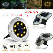 4pc 4-50LED Solar Buried Light Under Ground Lamp Outdoor Path Way Garden Decor