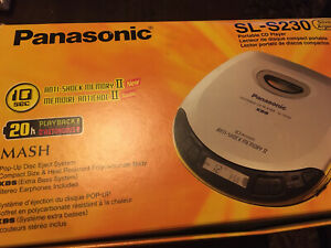 Panasonic SL-S230 Portable CD Player XBS Discman Grau