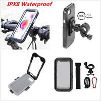 IPX8 Waterproof Case Motorcycle Bike Handlebar Mount Phone Holder For iPhone X