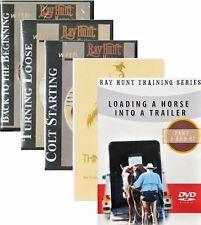 Ray Hunt Colt Start, Turning Loose, Back to Beginning,Trailer Loading DVD & BOOK