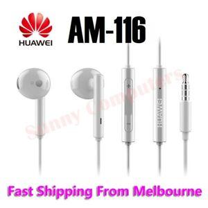 Original Huawei Earphone AM-116 AM-115 Stereo Headset w/ Volume Control Mic AU