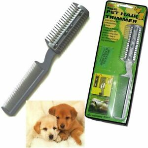 Pet Razor Trimmer Puppy Cat Dog Long Hair Grooming Comb Brush Extra Cutting