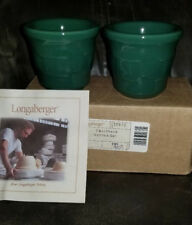 Longaberger Woven Traditions Set of Two Ivy Green Votive Cup Candle Holders