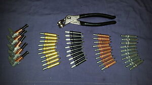 Temporary Fasteners Kit(CLECO/ SKIN PINS)40 Assorted Clecos,Plier & Edge Grips