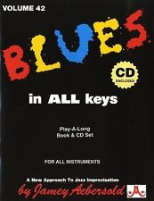 Aebersold Vol. 42: Blues in all Keys Piano, Vocal & Guitar Sheet Music, CD Backi