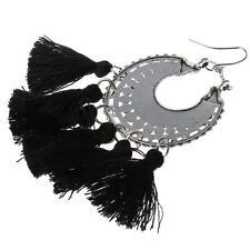 Women's Elegant Fashion Jewelry Bohemia Black Tassels Dangle Earring Ear Ring