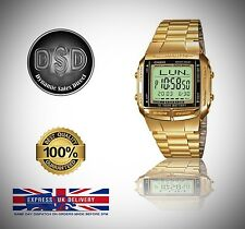 New Gold Casio Gents Bracelet Databank Watch (DB-360-9A) Brand New Boxed