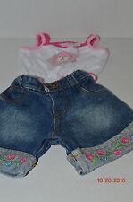 Build A Bear~Genuine Merchandise Texas Rangers Pink Shirt~Blue Denim Jeans~J1