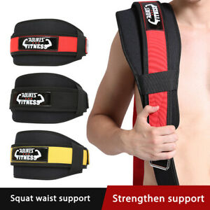 Weight Lifting Belt Training Gym Fitness Bodybuilding Back Support Workout Men