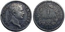 Napoléon 1 Franc 1808 BB, Strasbourg, TTB