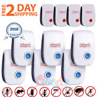 10x Electronic Ultrasonic Pest Repeller Reject Mosquito Cockroach Mouse Killer L