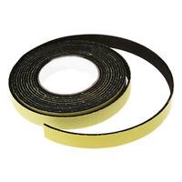 5 M Black Single Sided Self Adhesive Foam Tape Sponge Rubber Strip Door Seal