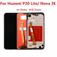 For Huawei P20 Lite /Nova 3E LCD Display Touch Screen Digitizer Frame Assembly