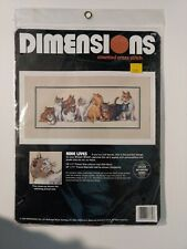 Dimensions Cats Counted Cross Stitch Kit Nine Lives 18 x 7 Kittens 3762