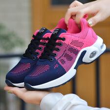 Women's  Comfort Fashion Lace up Platform mesh Sneakers Walking shoes Size