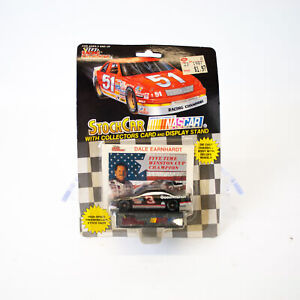1989 Racing Champions Nascar Dale Earnhardt Stock Car, Display Stand & Card