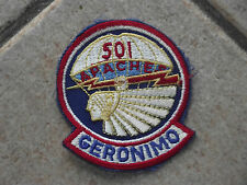 PATCH    STEMMA U.S.A. AIRBORNE 501 APACHES  GERONIMO