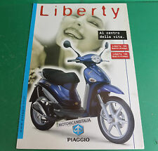 PIAGGIO SCOOTER PUBBLICITA DEPLIANT BROCHURE LIBERTY 125 150 MOTORE  LEADER