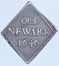 Rara Carlos I, Newark asedio halfcrown, 1646 británico Martillado GVF Moneda De Plata