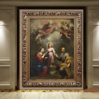 D82 Catholic Christian Holy Religion Framed Painting Picture Jesus Christ M