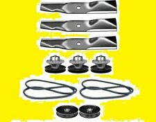 FITS Scotts S2554 Mower Tractor Rebuild Kit Blades Belts Pulleys Spindles (135)