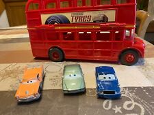 Disney Cars Double Decker Bus + 3 Voitures