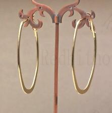 "18K Gold Filled 1.5"" Earring Oversize Circle Hollow Round Hoop Women Cocktail DS"