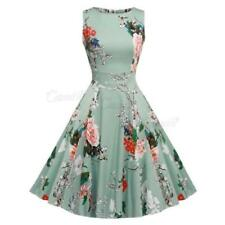 Rockabilly Dresses for Women with Cap Sleeve Midi