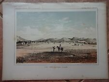 "Lithograph ""FORT OWEN"" /John Mix Stanley / 1860 Railroad Survey Report"