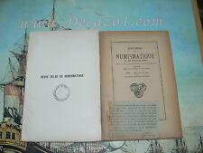 Revue Belge de Numismatique 1925 2V. 1/2 +3/4 livraisons.Original Edition! Rare!