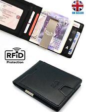 Money Clip Wallet RFID Safe Contactless Leather Credit Card Holder Gift for Men