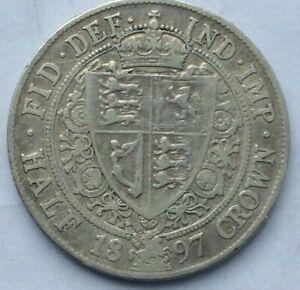 Victoria 1897 Solid Silver Half Crown