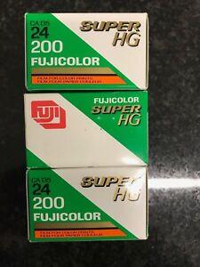3 x Fujifilm Super HG 200 35mm expired film