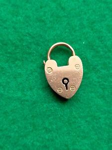 2000. Rose Gold Padlock Pendant. Birmingham Letter a. 3 Grams