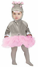 FANCY DRESS TODDLER LARGE 12-24MONTHS FUZZY HIPPO COSTUME ONESIE