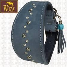 WOZA Premium Windhundhalsband Vollleder Greyhound Rindnappa Lederhalsband G71805